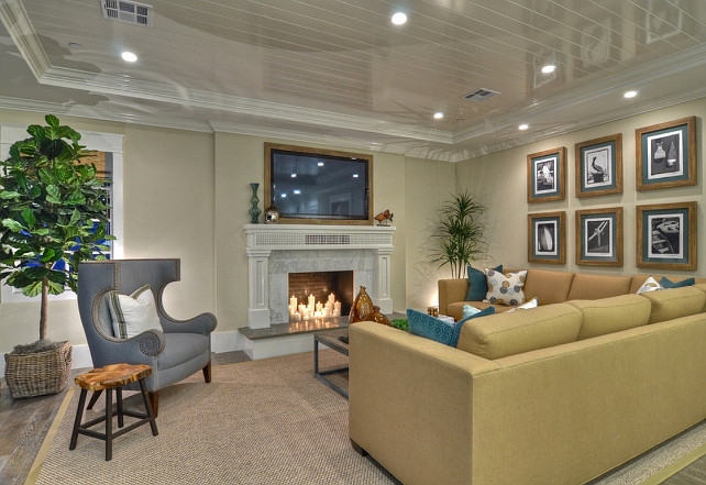 Living Room. Coastal Living Room Ideas. #CoastalInteirors #LivingRoom #LivingRoomIdeas