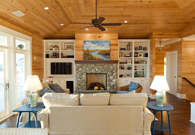 Living Room. Coastal Living Room Ideas. #CoastalLivingRoom #LivingRoom Blue Sky Building Company.