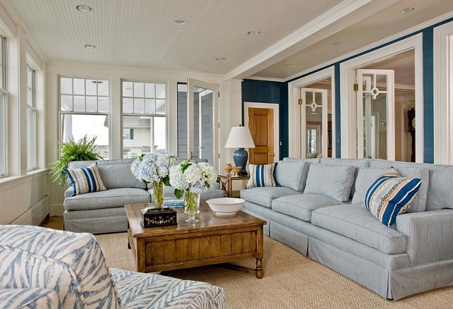 Living Room. Living Room GrassCloth Wallpaper. Living Room Ideas. Living Room Furniture. Living Room Seagrass Rug. #LivingRoom Anita Clark Design.