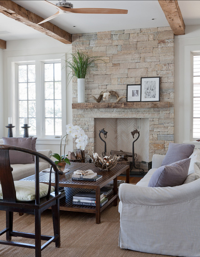 "Living Room. Living Room Ideas. Living Room Decor. Living Room Fireplace.  The stone on the fireplace is ""South Bay quartzite"". Living Room Furniture layout. #LivingRoom #LivingRoomDecor"