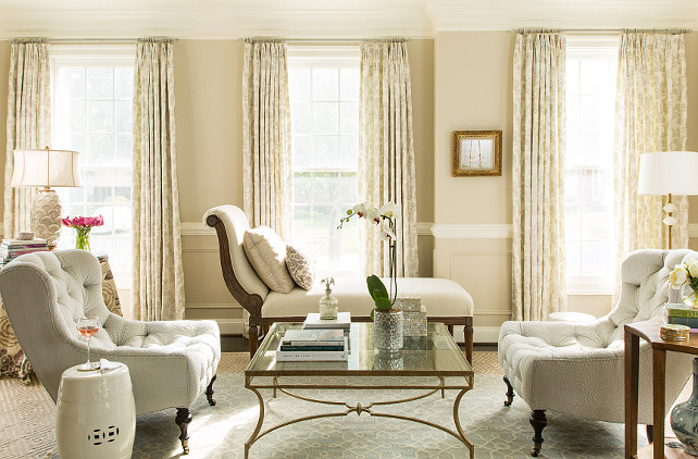 Living Room. Living Room Neutral Decor. Living Room Furniture Layout. Living Room Curtain Fabric. Living Room Layout. Living Room Rug. Living Room Chair. #LivingRoom Kathryn Ivey Interiors.