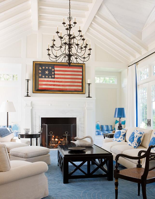 Living Room. Living Room Vintage Flag. #LivingRoom #Vintage #Flag SLC Interiors.