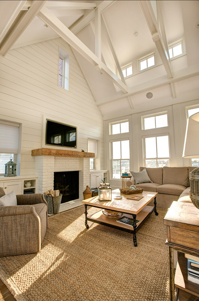 I Am Loving This Neutral Living Room With Subtle Coastal Decor And With