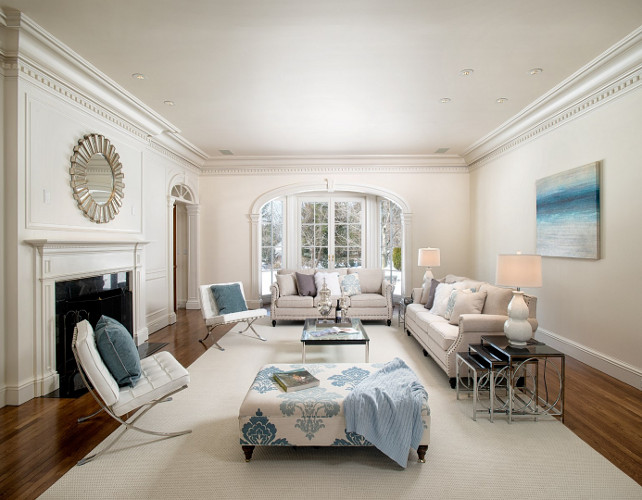 Living Room. White and Blue Living Room. Traditional Living Room. Off-white Living Room. Linen White Living Room. Coastal Living Room. Living Room Furniture. Living Room Layout. #LivingRoom