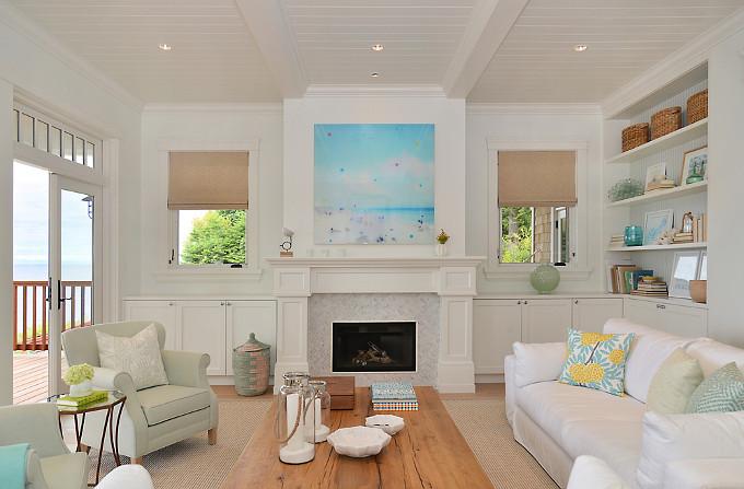 Living room fireplace. Sunshine Coast Home Design.