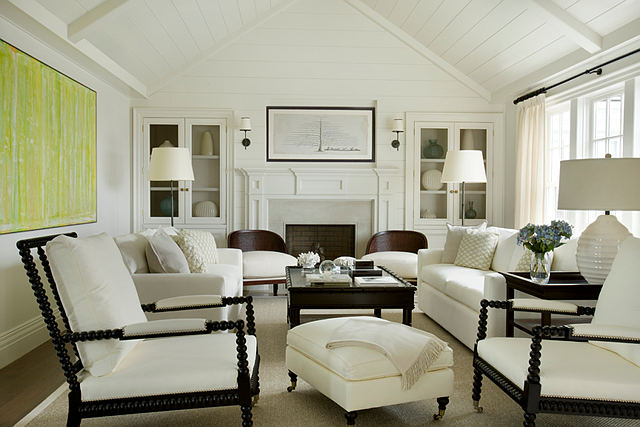 Exceptional This Living Room Has A Very Calming Aura, Thanks To The White Walls And  Furnishings.