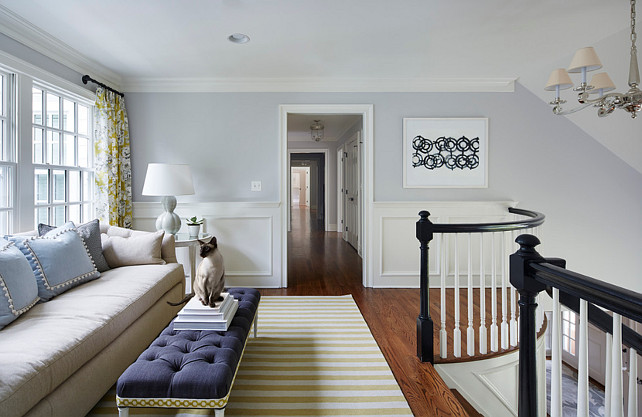 Loft. Stairwell Loft. Staircase loft design. Loft with sitting area. #Loft #Staircase #Stairwell #SittingArea Martha O'Hara Interiors.
