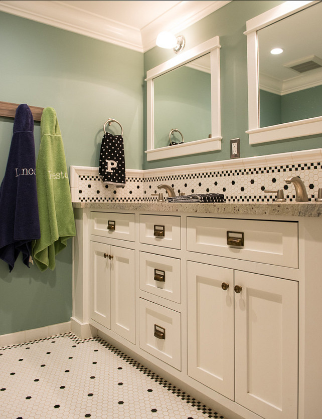 Kids Bathroom Design. Shared Kids' Bathroom Design #Bathroom #SharedBathroom #KidsBathroom