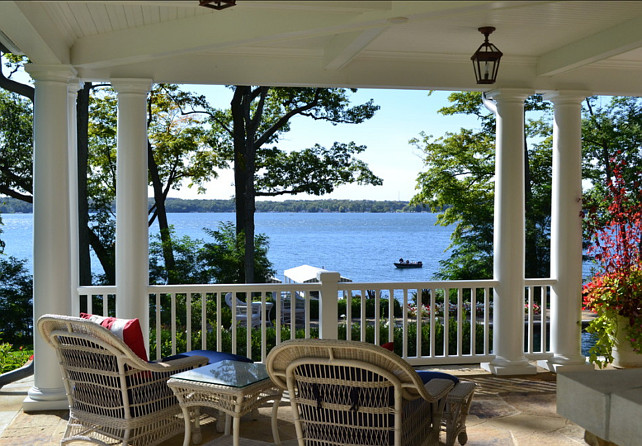 Porch Design Ideas. A porch is water views is hard to beat! #Porch