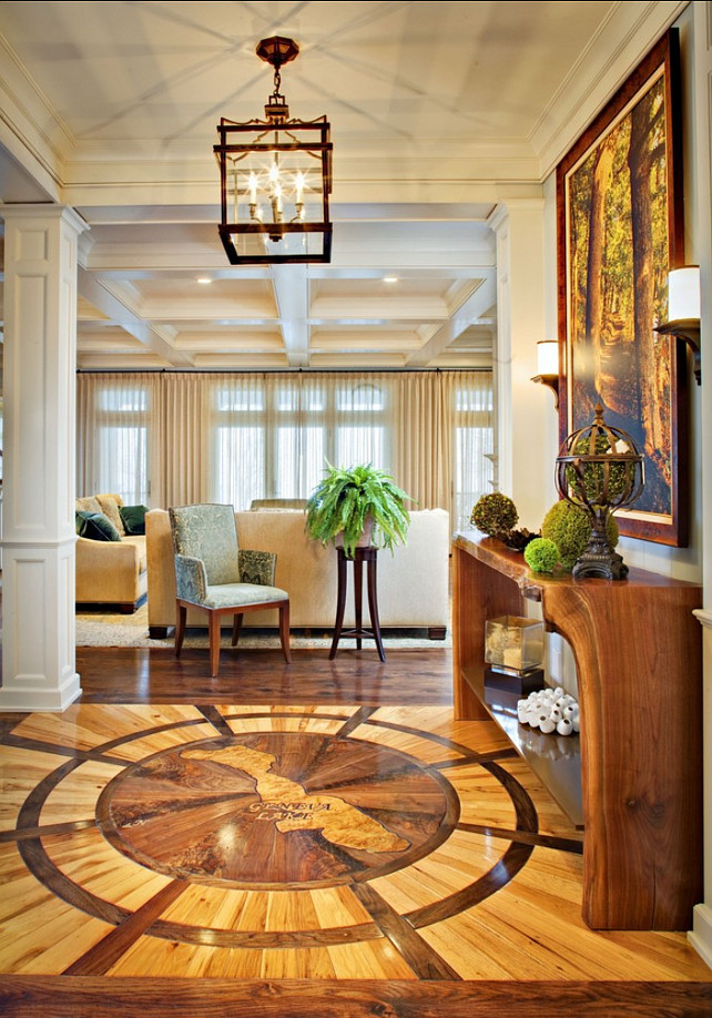 Foyer. Great Foyer Design! Coastal Foyer. #Foyer