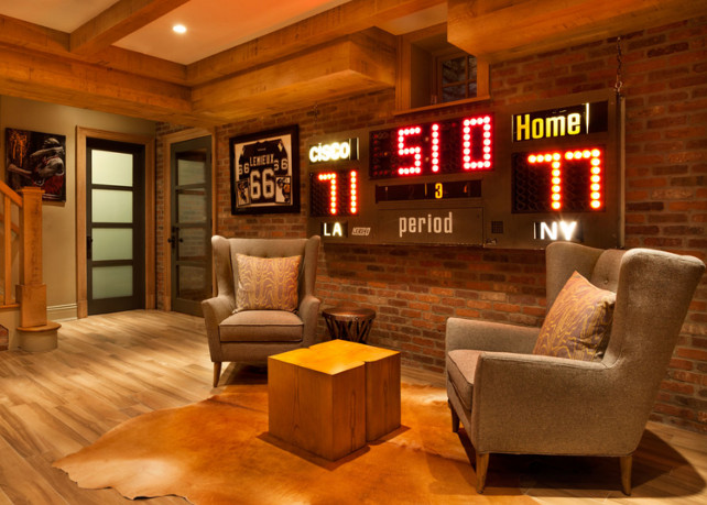 Man Cave Home Design. Basement Man Cave Ideas. Sports Man Cave Design. #ManCave #SportsManCave #ManCaveIdeas #BasementManCave