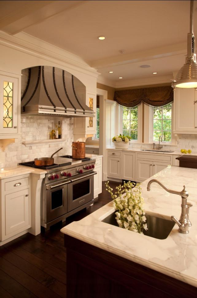 White Cabinets With Dark Trim