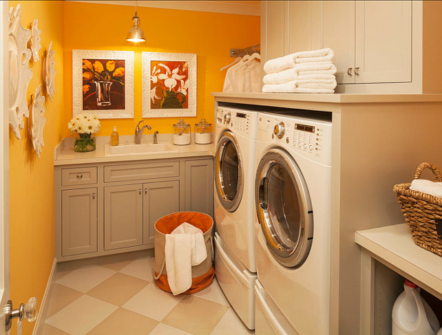 Laundry Room Ideas. The Wall Paint Color Is Benjamin Moore Sweet Orange  2017 40