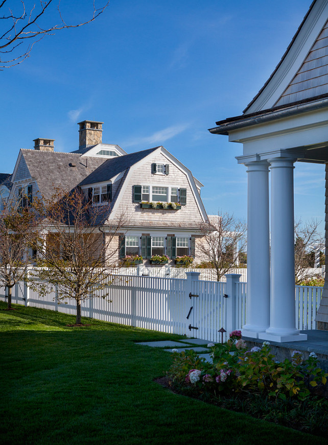Martha's Vineyard Beach House. Dream Shingle Style Martha's Vineyard Beach House. #BeachHouse #MarthasVineyard