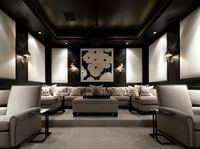Theater Theater Rooms And Home Theaters On Pinterest
