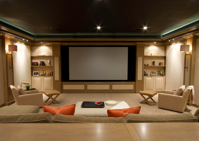 Media Room. Media Room Screen Ideas. #MediaRoom #MediaRoomScreen SBK Partnership, LLC - ARCHITECTURE