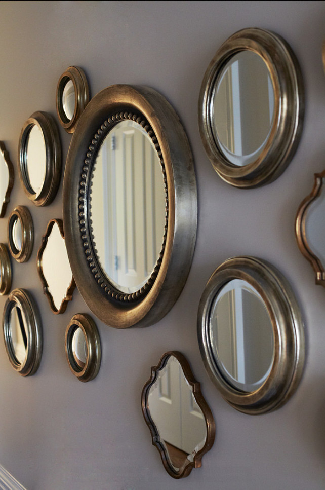Mirrors. How to hang mirrors Ideas. #Mirrors. #GalleryWall