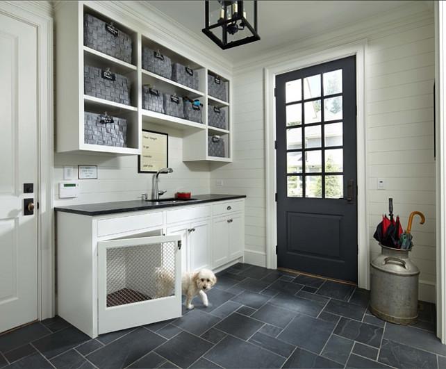 Mudroom. Mudroom with dog house. #Mudroom Murphy & Co. Design.