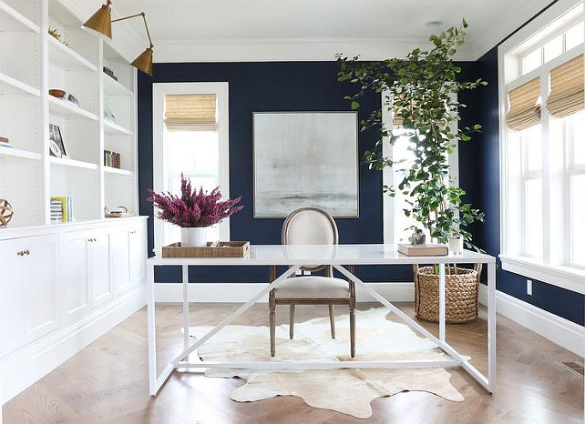 Navy Blue Paint Color.  Benjamin Moore Deep Royal. Benjamin Moore Deep Royal. #BenjaminMooreDeepRoyal