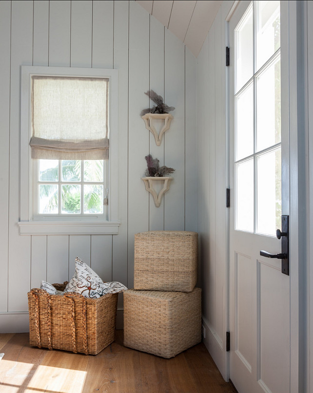 Neutral Coastal Interiors. I am loving this cottage's neutral, coastal interiors. #Coastal #Interiors