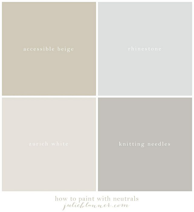 Neutral Color Palette Ideas. Sherwin Williams Neutral Paint Color. Sherwin Williams Neutral Paint Color.  Via Julie Blanner.