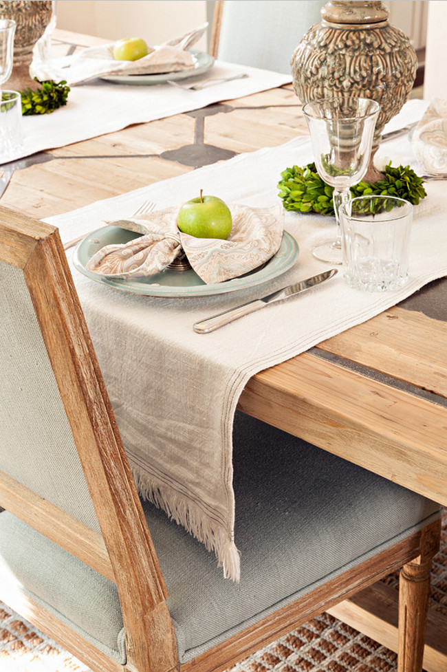 Neutral Dining Room Table decor Ideas. Casabella Home Furnishings & Interiors.