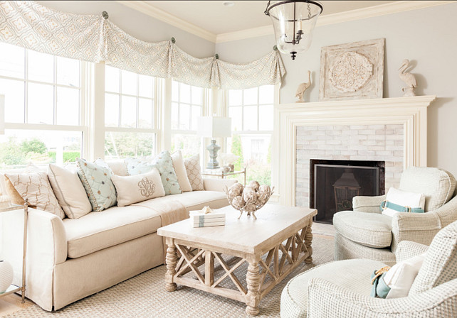 Neutral Interiors. Beautiful coastal home with neutral interiors. #NeutralInteriors #Interiors