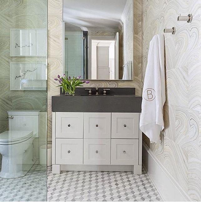 wallpaper powder room ideas