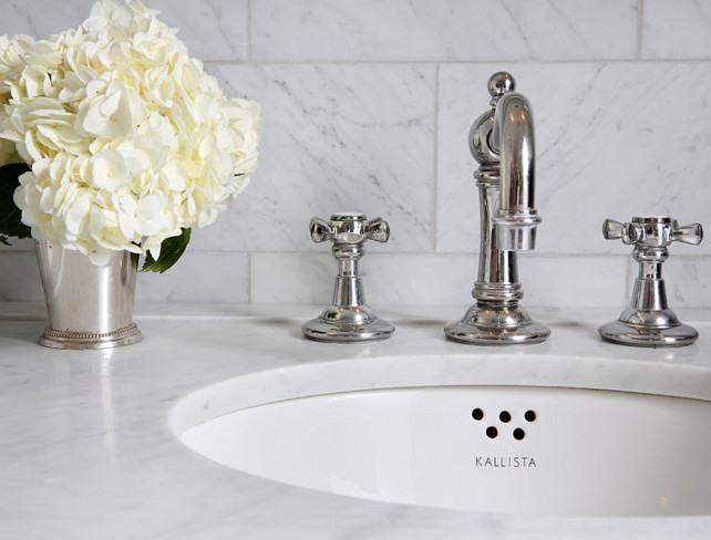 Bathroom Faucet Ideas. I am loving this classic bathroom faucet. #Bathroom #Faucet