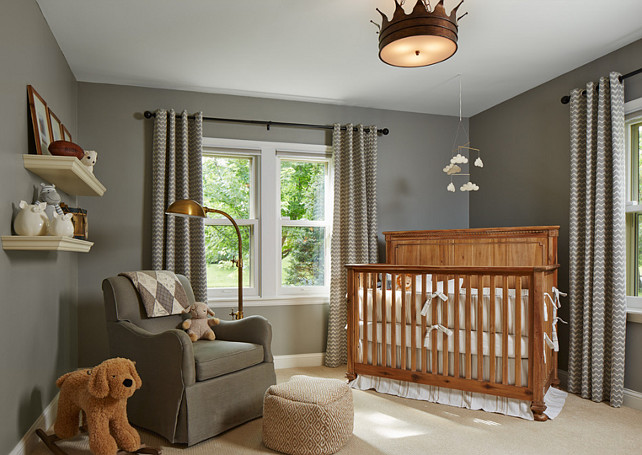 Nursery Lighting. The lighting in this nursery is the Shades of Light Crown Ceiling Light. #CrownCeilingLight #ShadesofLight #NurseryLighting #Nursery #Lighting  Designed by Sarah Nardi of Elsie Interior.