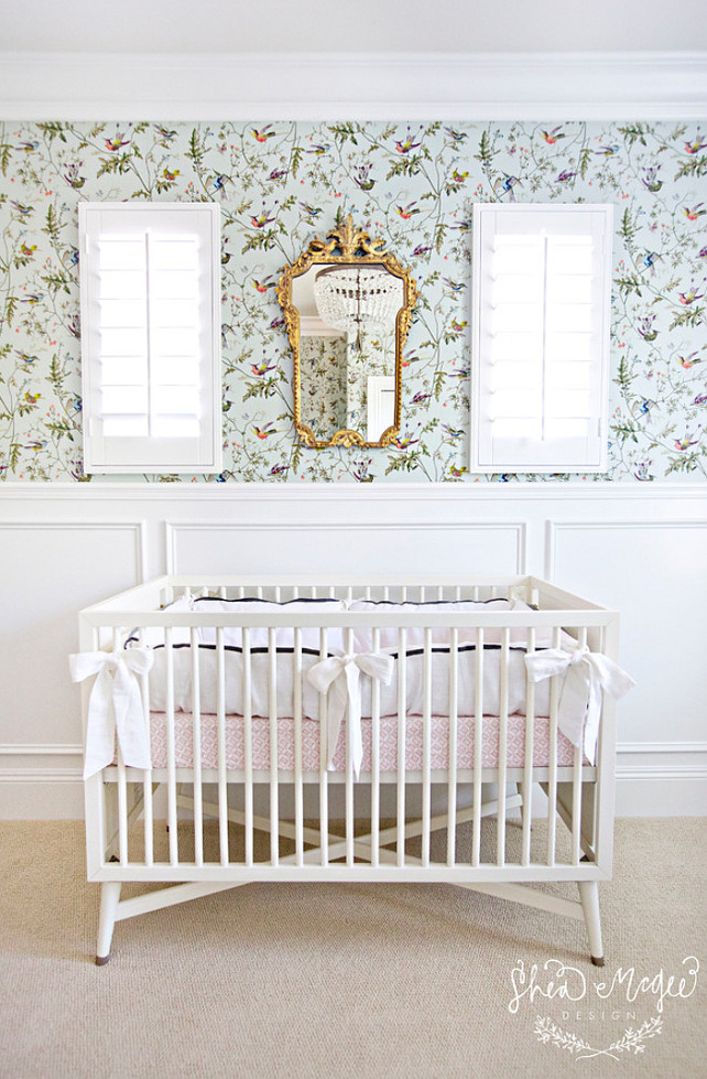 Nursery Wallpaper. Nursery Wallpaper ideas. #NurseryWallpaper Studio McGee.