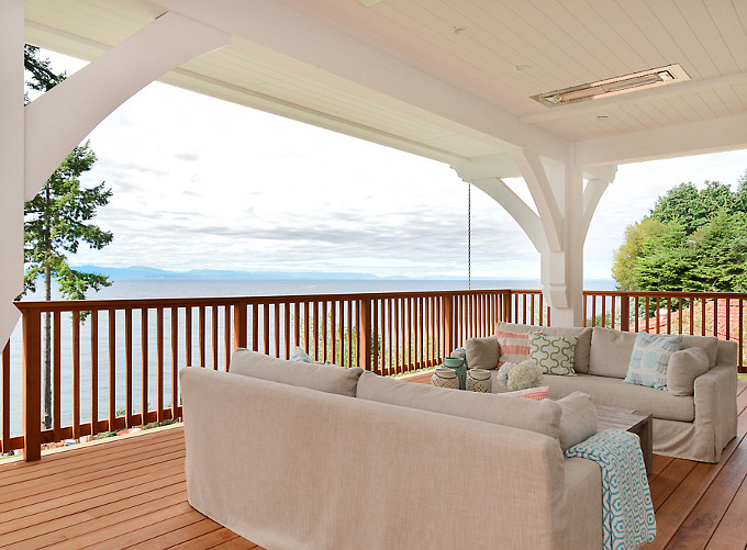 Ocean View Patio. Sunshine Coast Home Design.