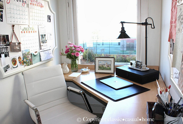 Office Decor Ideas. Home Office Decor. #HomeOffice #HomeOfficeDecor  Designed By Chez Vous