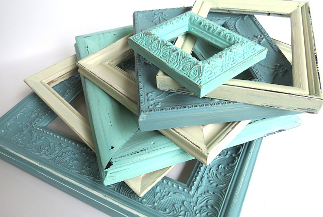 Old Frames. Painted Old Frames from Etsy by Swede13. #Frames #PaintedFrames