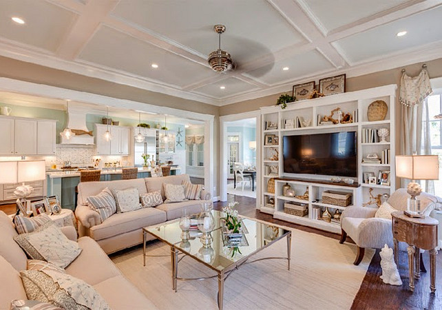 Open Concept Living Room Ideas. Open Layout Living Room Ideas. Open floor plan Living Room. Living room opens to kitchen. #OpenConcept #LivingRoom #OpenLayout #OpenFloorPlan