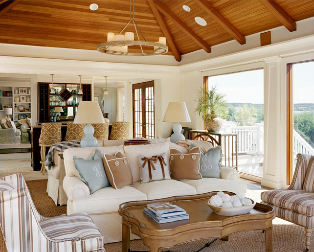 Open Concept Living Room Nancy McLaughlin Interiors.