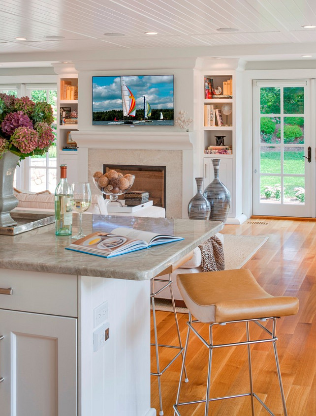 Cape Cod Shingle Beach House With Coastal Interiors Home