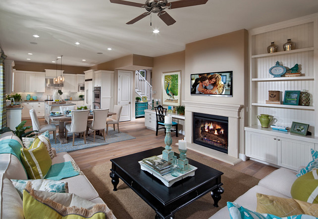 Open Floor Plan Kitchen Dining Room Family Room Design #OpenFloorPlan #OpenLayout Brookfield Residential Northern California.