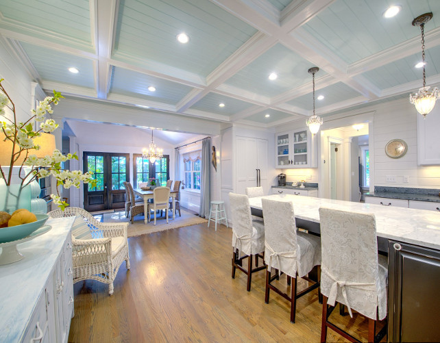 Shingle Cape Cod Home with Blue Kitchen Ceiling - Home Bunch ... on