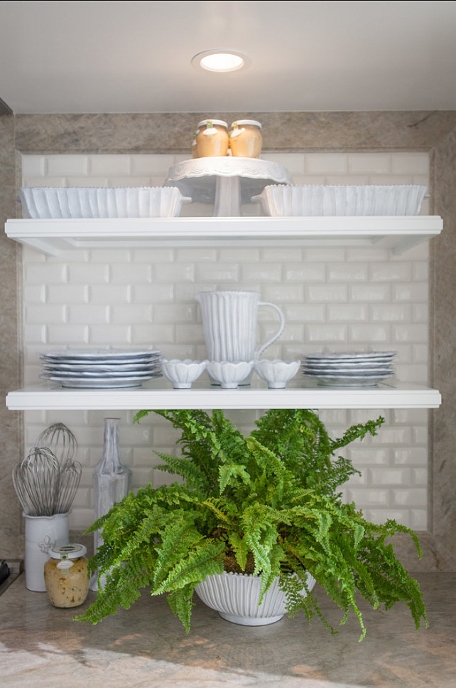 Open Shelves Kitchen. Kitchen with open shelves. #Kitchen #OpenShelves