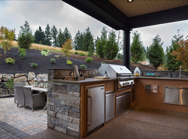 Outdoor BBQ Area. Outdoor kitchen BBQ. #BBQ #OutdoorKitchen