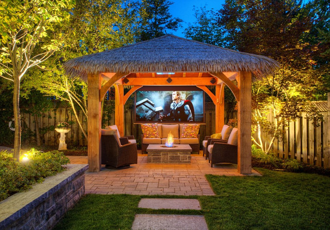Outdoor Cabana. Cabana with Outdoor  TV, #Cabana #OutdoorTV  Cedar Springs Landscape Group.