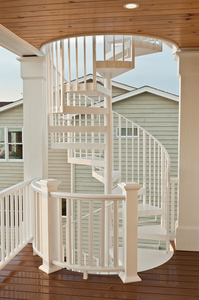 Outdoor Circular Staircase #Staircase #OutdoorCircularStaircase #OutdoorStaircase Blue Sky Building Company.