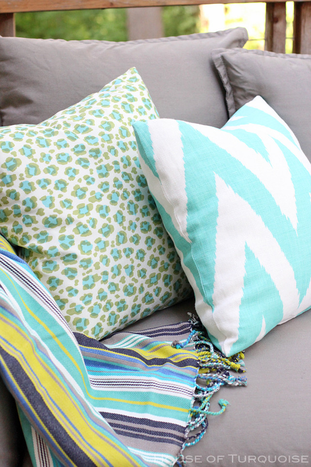 Outdoor Fabric Ideas. Outdoor Pillow Fabric Ideas. #OutdoorFabric #OutdoorPillows House of Turquoise.