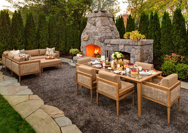 Outdoor Fireplace. Outdoor Fireplace Ideas. #OutdoorFireplace #Backyard Shapiro Didway