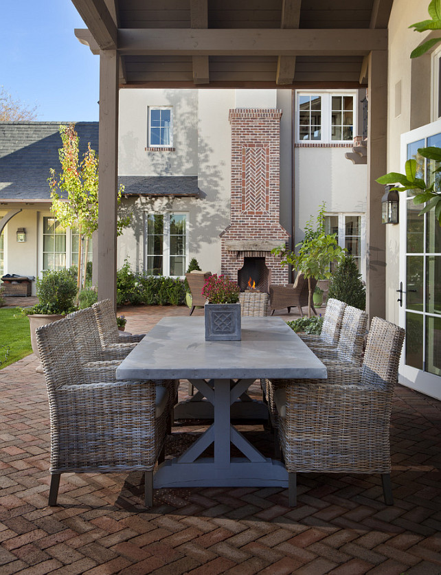 Outdoor Fireplace. Patio with brick fireplace. #Patio #OutdoorFireplace #PatioFireplace #Brick #Fireplace  Matthew Thomas Architecture, LLC.