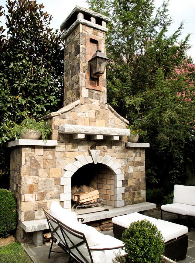 Outdoor Fireplace. Stone Fireplace. Outdoor Stone Fireplace. #OutdoorFireplace #OutdoorStoneFireplace JDP Design.
