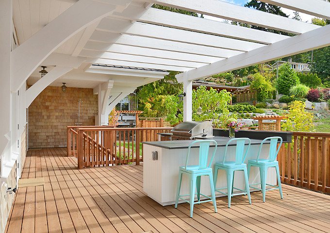 Outdoor Kitchen. Sunshine Coast Home Design.