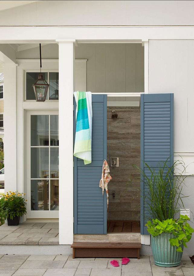Outdoor Shower. Outdoor Shower Ideas. Backyard Outdoor Shower Ideas. #OutdoorShower