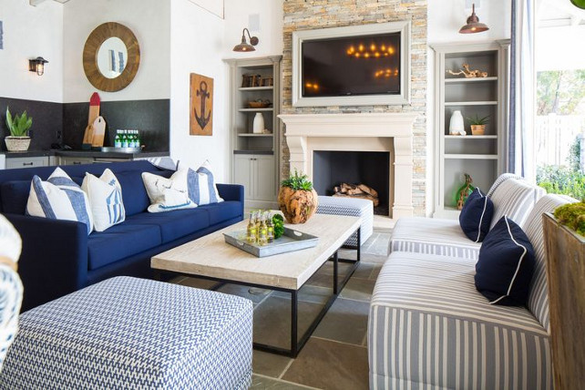 Outdoor living room furniture. Kelly Nutt Design.